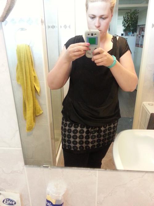 18 juni 2014: Ik pas weer in een kledingstuk dat al 1 jaar in de kast hing