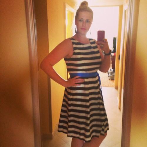 5 oktober 2014: Stralen in mijn mooie jurk op vakantie