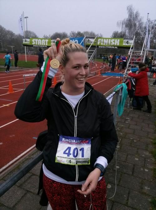 30 november 2014: mijn allereerste hardloopwedstrijd ooit. 5 kilometer