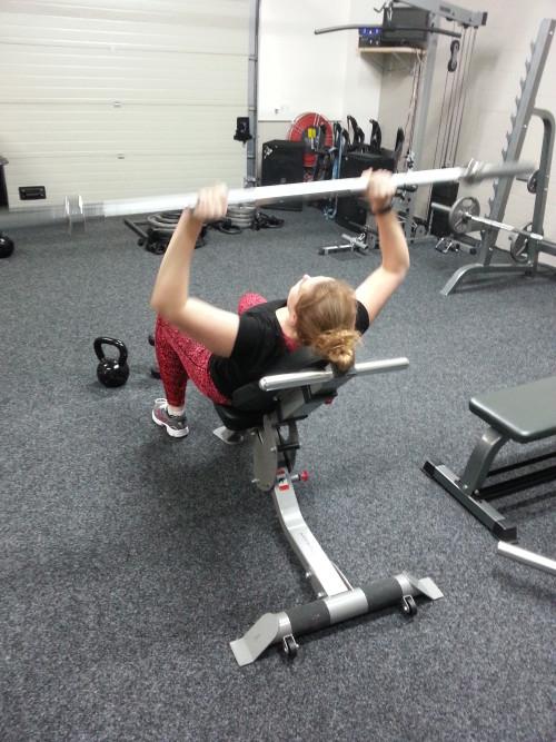 9 december 2014: een van de eerste trainingen bij Personal Gym Marc Hogervorst. Met nog een lege stang