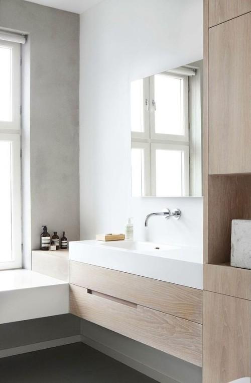 Ik vind houttinten in de badkamer erg mooi, dus dat zie je straks ook terug in onze badkamer.