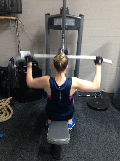 16 oktober 2015: Working my butt off in the gym