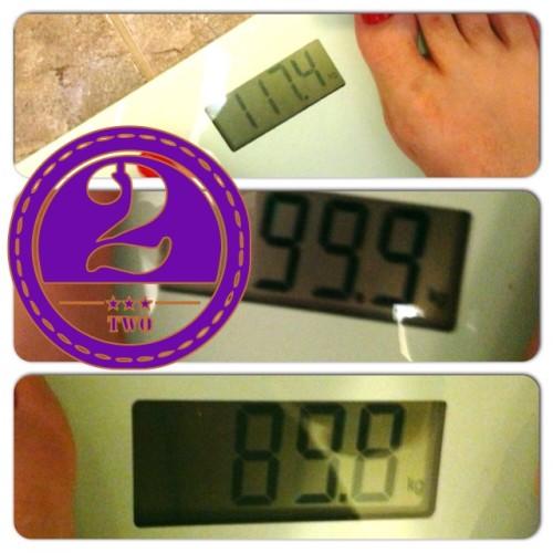 21 januari 2015: een nieuwe mijlpaal, onder de 90 kilo!
