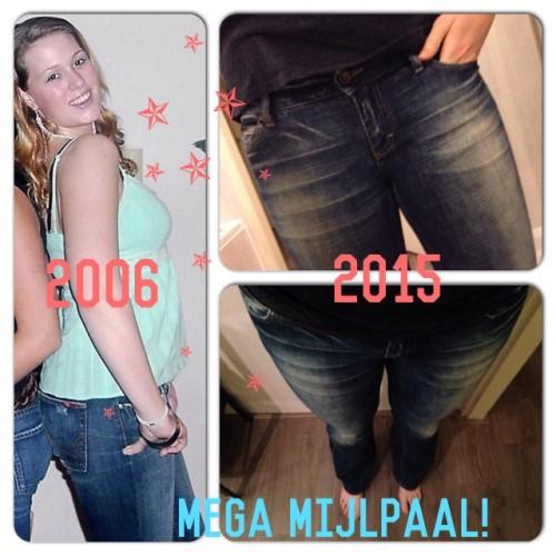 4 februari 2015: ik pas weer in mijn oude spijkerbroek!