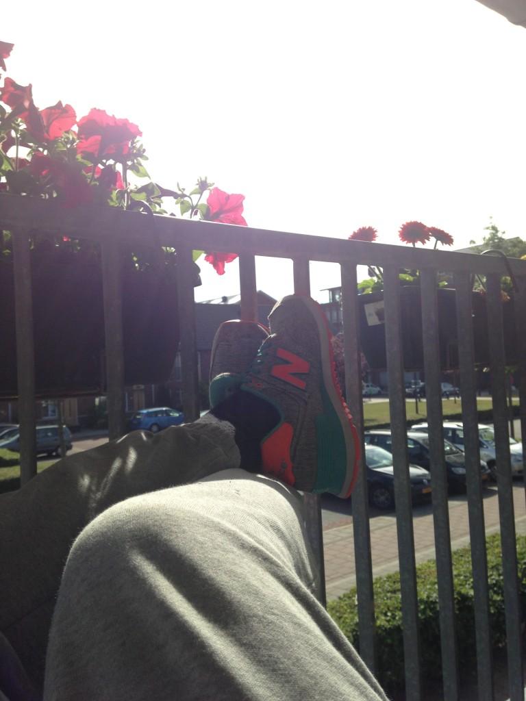Na het werk nog even genieten van het zonnetje