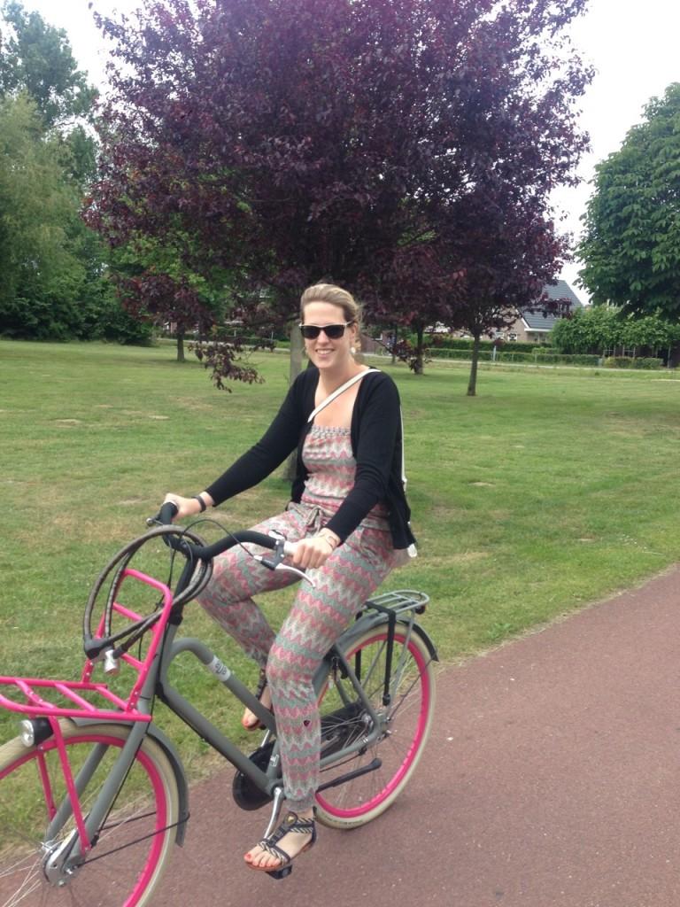 Op de fiets naar een fijne plek om te lunchen