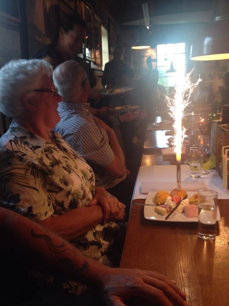 Vuurwerk voor oma