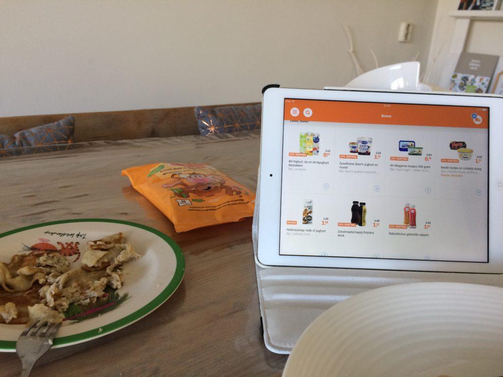 Lunchen en online boodscappen bestellen